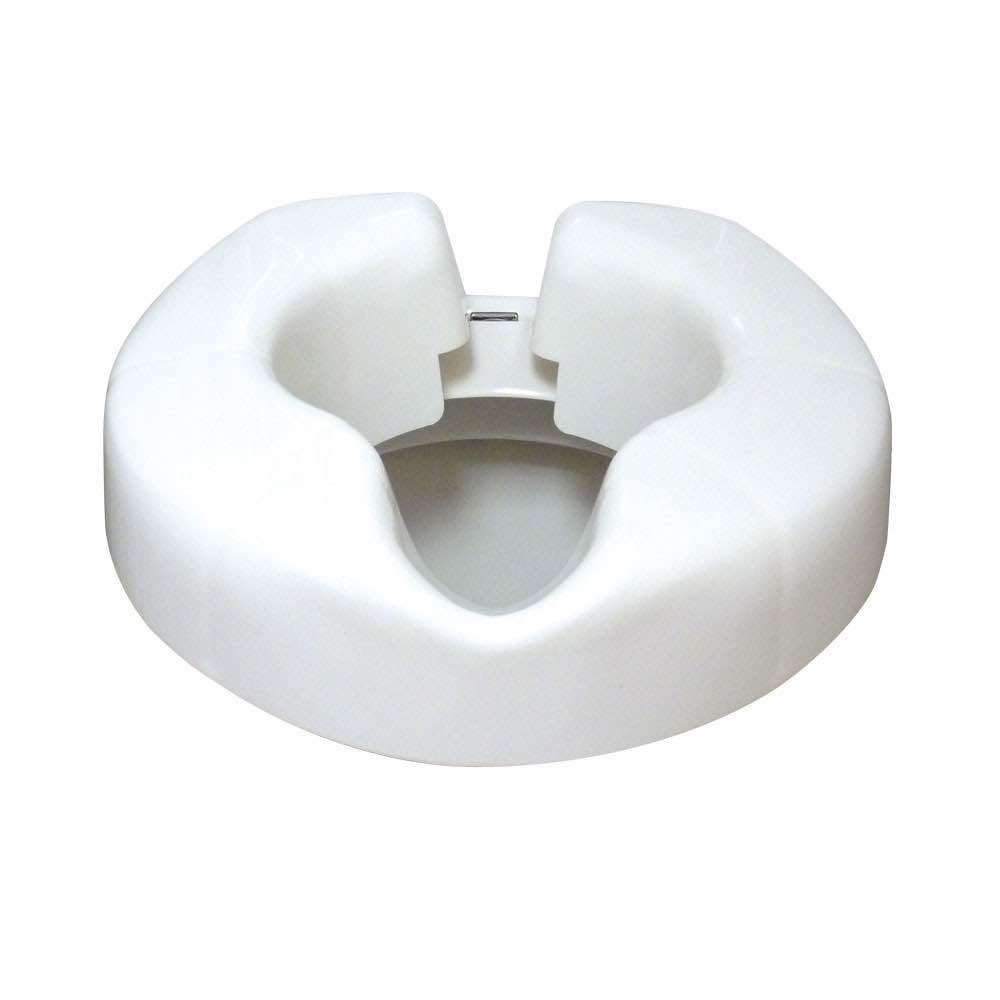 Image of a raised toilet seat