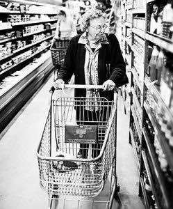 older lady shopping