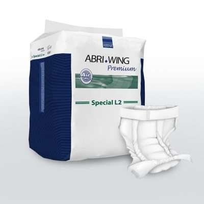 Belted all-in-one incontinence pad