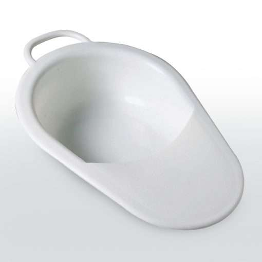 Slipper bed pan with lid