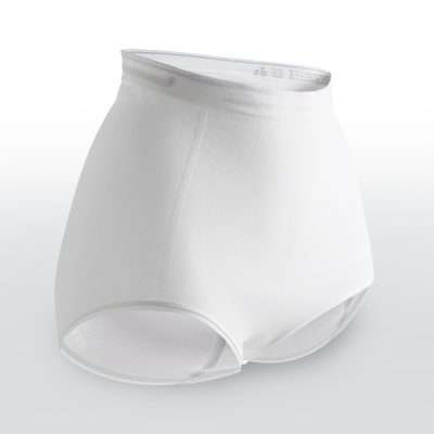 Cotton stretch briefs to hold incontinence pads