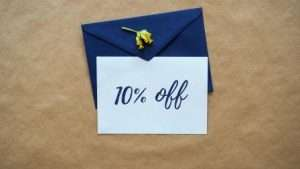 10% off note