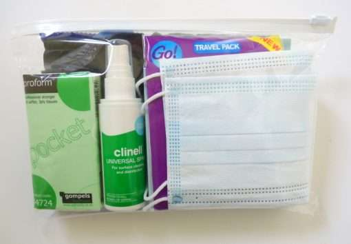 contents of Good2Go toilet pack
