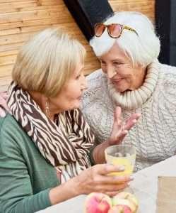 Older ladies chatting