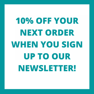 offer of 10% for newsletter sign up